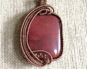 Mookaite Wire Wrapped Necklace