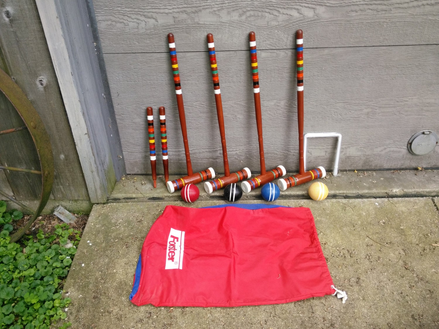Vintage forster four player wood croquet set with by judym2
