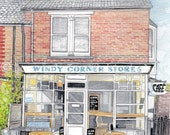 Windy Corner Stores - Whitstable - A5 Print