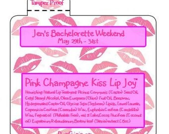 Shower Favors Kiss the Miss Lip Balm Chapstick Bachelorette Baby Shower Pink Lips Kisses Favors Party Wedding Baby Shower Gift Pura Gioia
