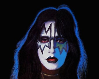 KISS Band Collectibles ***KISS Ace Frehley Solo Album Counter Top Stand-Up Display*** Gift Idea Kiss Collectibles Kiss Memorabilia Retro