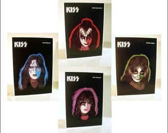 KISS Set OF 4 Gene, Paul, Ace, Peter Solo Album Poster Stand-Up Displays
