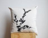 Garden throw pillow cover, Adirondack chair throws, Coronilla tree leaves motif cushion case, Decorative accent Garden, Outdoors 19x19