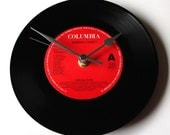 """MARIAH CAREY Record CLOCK, Choose your favorite song, a recycled 7"""" Vinyl Record, Fun gift for mom, mum, sister, women"""