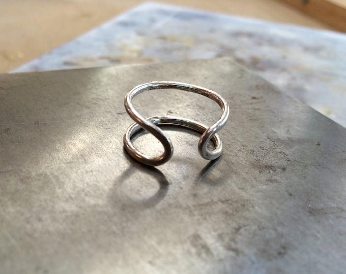 Cuff Ring in Silver