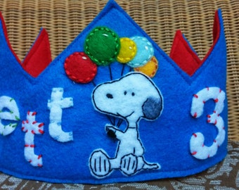 Personalized Colorful Snoopy Crown