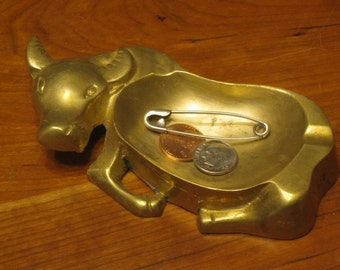 Brass Bull Catch All / Brass Bull Ashtray
