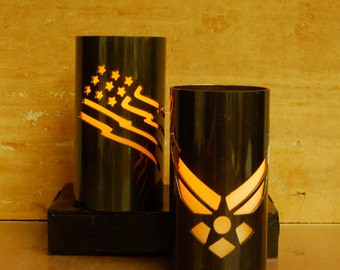 US Air Force -1003- Metal Candle Holder Luminary