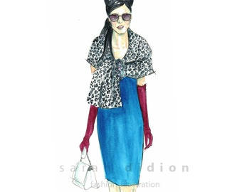 Fashion Illustration Fine Art print from original watercolor
