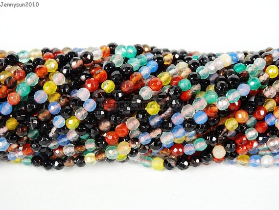 multi colored agate gemstones small by beautybeadingjs