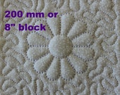 EMBROIDERY PATTERN 200 mm in-the-hoop quilt block - trapunto dresden flower for 200 mm hoop