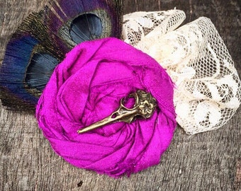 SALE!! Maiden Corvid, Hair Accessory or Brooch