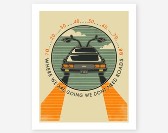 Where We Are Going... (Giclée Fine Art Print, Photo Print or Poster Print) Retro Pop Art (beige version)