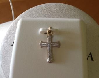 10KT Gold Children's Diamond Cross