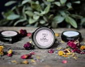 Lip Butter Natural Lip Balm Honey Essential Oils Scented Whipped Moisturizing Herbal Salve Rose Patchouli Frankincense Mothers Day Gift