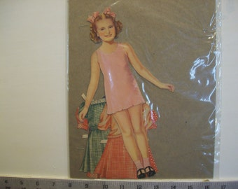 "Vintage 1942 ""Joan Carroll"" Paper Doll (partial set)  Saalfield #2426  1942"
