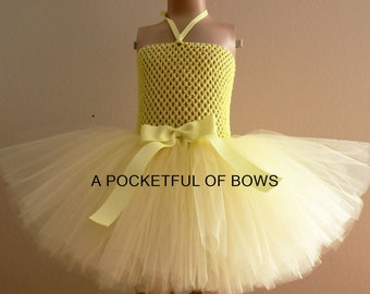 Yellow Tutu Dress Birthday Outfit for Baby Toddler Girls