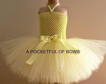Yellow Tutu Dress, Birthday Dress, Toddler Tutu