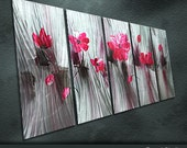"""Large Original Metal Art Modern Abstract Special Painting Sculpture Indoor Outdoor Decor """"Wave"""" by Ning"""