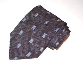 Men's Vintage Tie, Perry Ellis Necktie, 80's Tie, Wide Tie, Vintage Necktie, Men's Necktie, Men's Neckwear, Designer Tie, SALE!