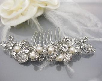 Pearl bridal hair comb Wedding hair accessory Bridal hair piece Wedding hair jewelry Bridal hair accessory Wedding hair comb Bridal comb
