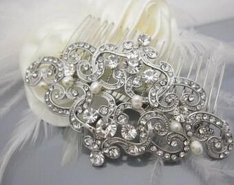 Bridal hair comb bridal comb pearl hair comb bridal hair accessories bridal headpiece bridal hairpiece bridal hair jewelry bridal accessory