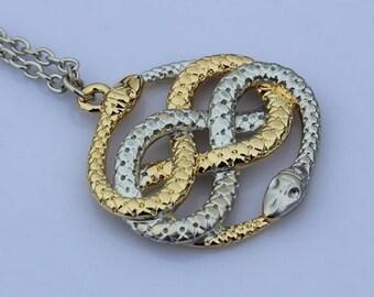 The Neverending Story Auryn necklace Atreyu snake