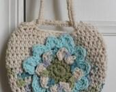 Crocheted Purse, Purse for Girl, Flower Purse, Girls Purse, Bag, Purse, Little Girl, Small Bag, Small Purse, Pouch, Birthday Gift, Girls Bag