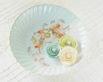 Vintage Hand Painted Decorative Porcelain Bowl, Asian Inspired, Candy Dish