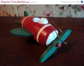 Wooden plane ornament