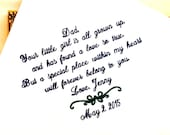 Father of The Bride Gift - Handkerchief -Hankie - Hanky - Little Girl is all GROWN UP - Gift for Father of the Bride - Wedding