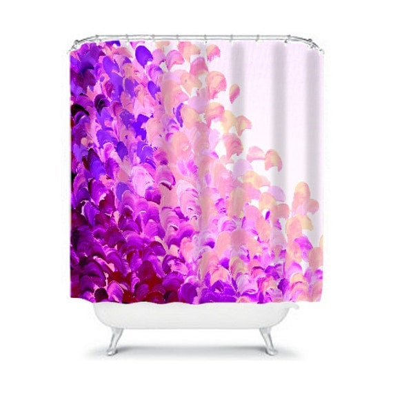 Creation In Color Lavender Purple Art Painting Shower Floral