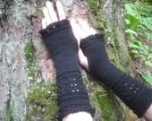 Fingerless Gloves, Black Fingerless Gloves, Wrist Warmers, Knit Fingerless Gloves, Lace Fingerless Gloves, Knitted Gloves, Goth Arm Warmers