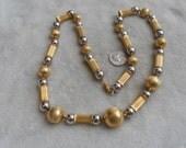 Vintage Necklace- METAL Bobble Beads-N1593