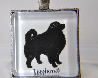 Keeshond Dog Breed - Dog Breed Silhouette - Dog Silhouette Necklace - Dog Breed Necklace - Dog Breed Jewelry -Dog Breed Pendant