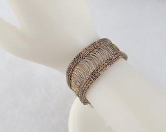 Wire Knit Bracelet with Toggle Clasp