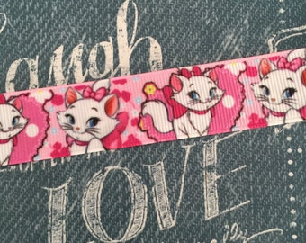 "7/8"" Grosgrain Marie Cat Ribbon"