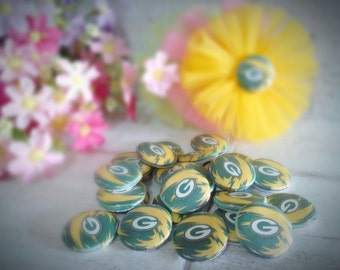 PACKERS Buttons - PACKERS Assorted Flatback - 30mm Buttons