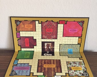 CLUE GAME Board for Altered Art, Mixed Media, Crafts, Journals, etc.
