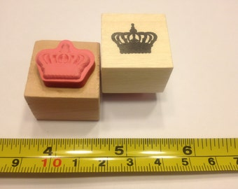 small crown rubber stamp, 20 mm (HR45)