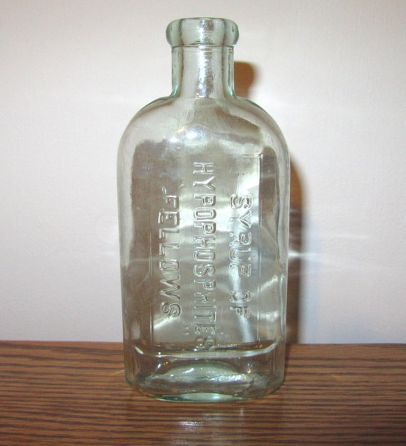 Antique Bottle Aqua Syrup of Hypophosphites Fellows 1910 or after