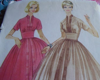 Vintage 1950's, 60's McCall's 5403 Dress Sewing Pattern, Size 12, Bust 32