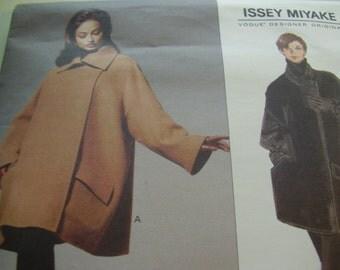 1990's Vogue 1227 Designer Original ISSEY MIYAKE Coat Sewing Pattern, All Sizes