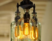 Recycled Bottle Chandelier - The Marquis Gin