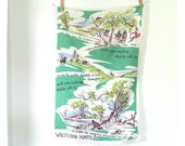Waltzing Matilda vintage souvenir tea towel - kitchen linen