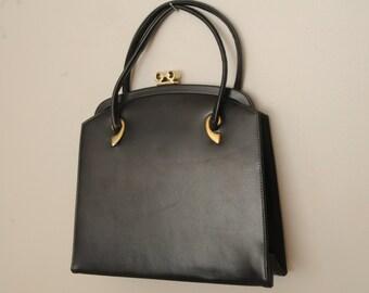 Vintage Black Purse Gold