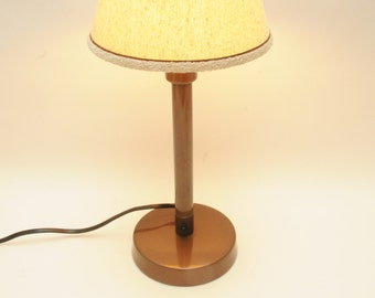 mid century morning glories lamp signed handpainted