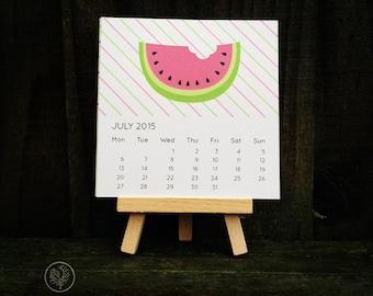 Mini Desk Calendar - Tutti Fruitti
