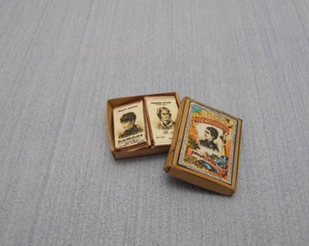 Gaël Miniature Vintage game Queens of Literature.  McLoughlin Brothers, 1886:12 Scale Dollhouse Miniature toys child accesories handmade