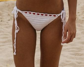 Crochet hearted bikini bottom , crochet top, crochet bikini, lace hearted, bikini bottom, thong bikini, summer fashion swimsuits, swimwear,